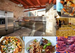 Szállásunk konyhája, ahol autentikus szicíliai ételeket fogunk főzni